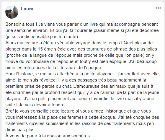 Commentaire de Laura - Mai 2018