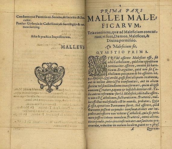 Le malleus maleficarum